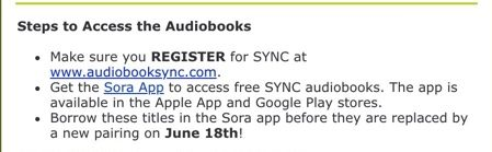 Registration instructions for AudioSync Program