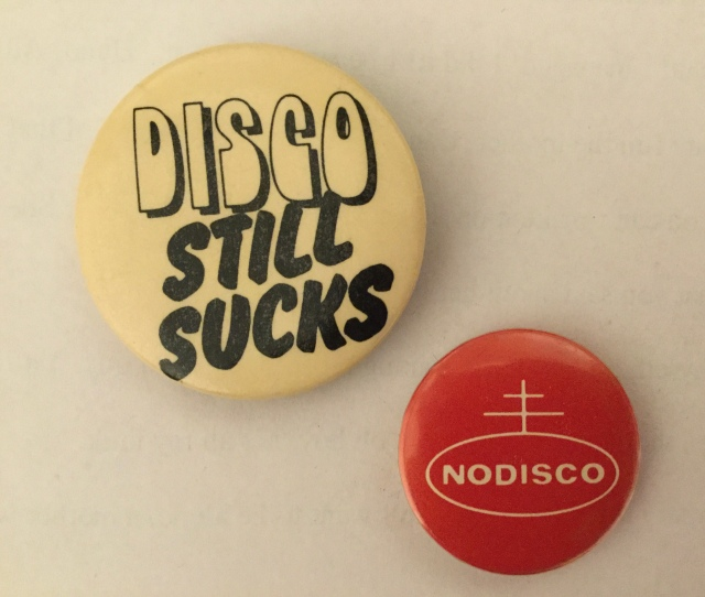 No Disco pins